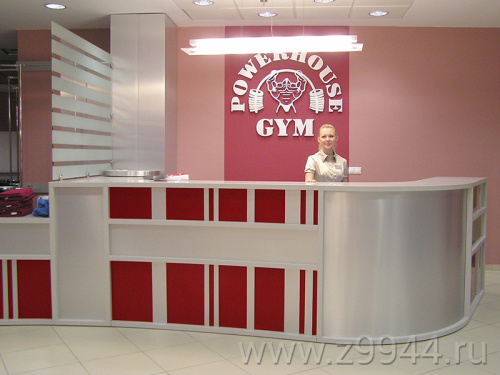 Ресепшен, гардероб и мебель для фитнес-центра PowerHouse Gym